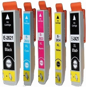 Inkmaster inktcartridge voor Epson 26XL Bk, C,M,Y,PBK  77ml