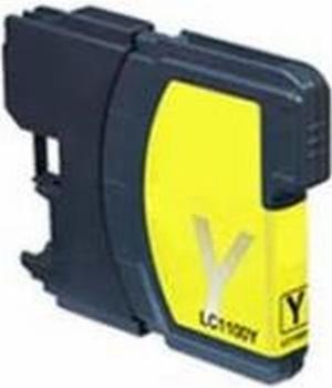 Brother Inkt cartridge LC-1100/980Y geel (huismerk)