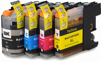Brother cartridge LC-123 BK,C,M, Y 50ml 4 pack