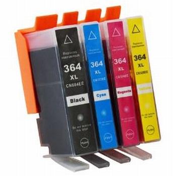 HP inkt cartridge 364XL BK/C/M/Y met chip, 74ml