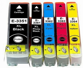 Epson 33XL 5 cartridges  hoge capaciteit BK,PBK,C,M,Y