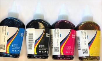 Losse inkt  4x100= 400ml 4 kleuren BK/C/M/Y