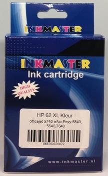 HP inkt cartridge 62XL kleur 17 ml