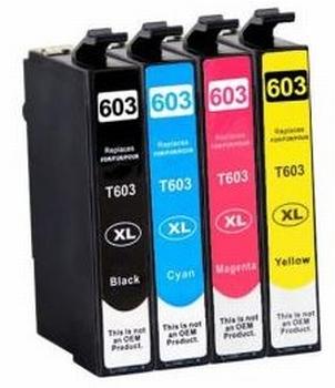 Inkt voor Epson 603XL multipakc BK/C/M/Y 48 ml inkt