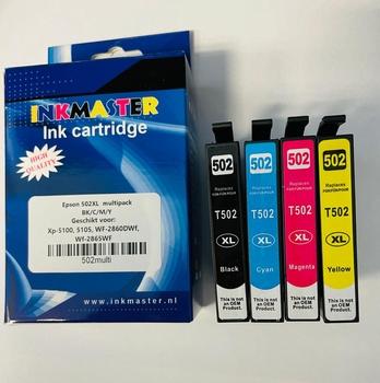 Inkt cartridge voor Epson 502XL set van 4 BK/C/M/Y