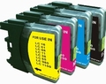 Brother Inkt cartridge LC-1100/980 BK/M/C/Y set van 4 pack